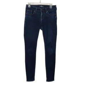 SILVER JEANS blueAiko mid rise super skinny jeans